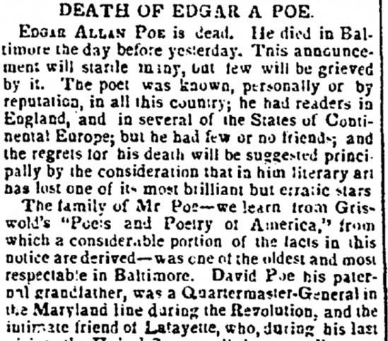 enquirer-newspaper-1016-1849-edgar-allan-poe-obituary