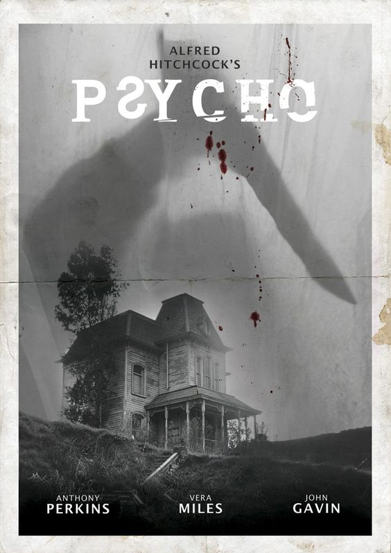 horror film posters psycho 1960 the sanguine woods. Black Bedroom Furniture Sets. Home Design Ideas