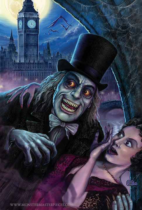 London After Midnight Vampire by Horror artist illustrator Scott