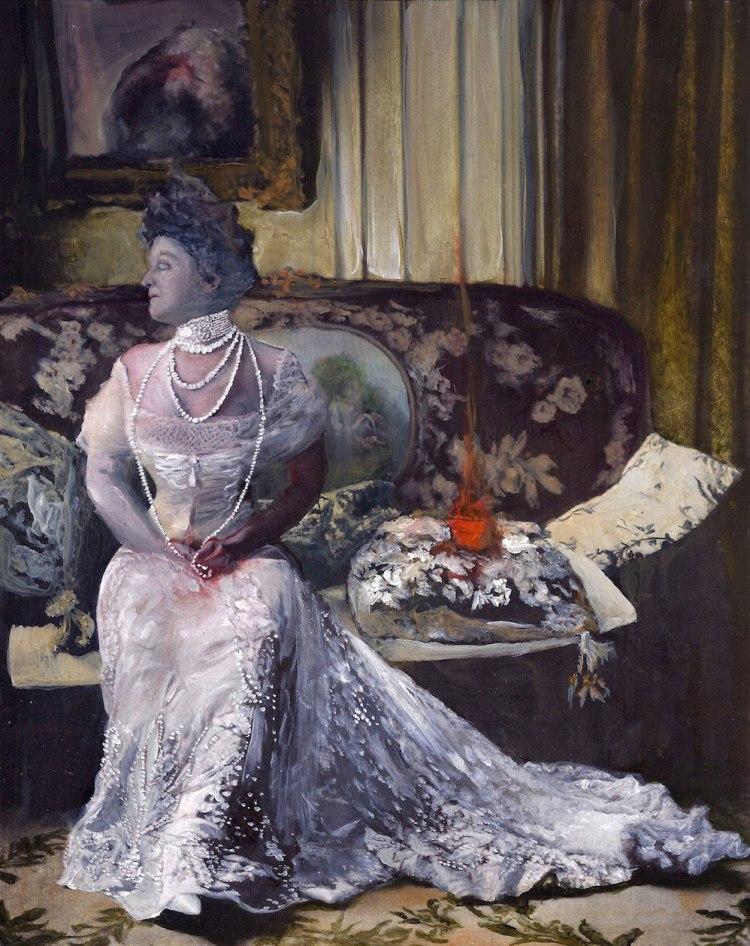 Taken-Made-Dark-Sarah-Zar-historic-fire-woman-pearls-paintings