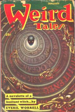 One of Worrell's three Weird Tales cover appearances