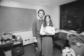 1979, New York, New York, USA --- Comedians Bill Murray and Gilda Radner in their office at Radio City. --- Image by © Shepard Sherbell/CORBIS SABA