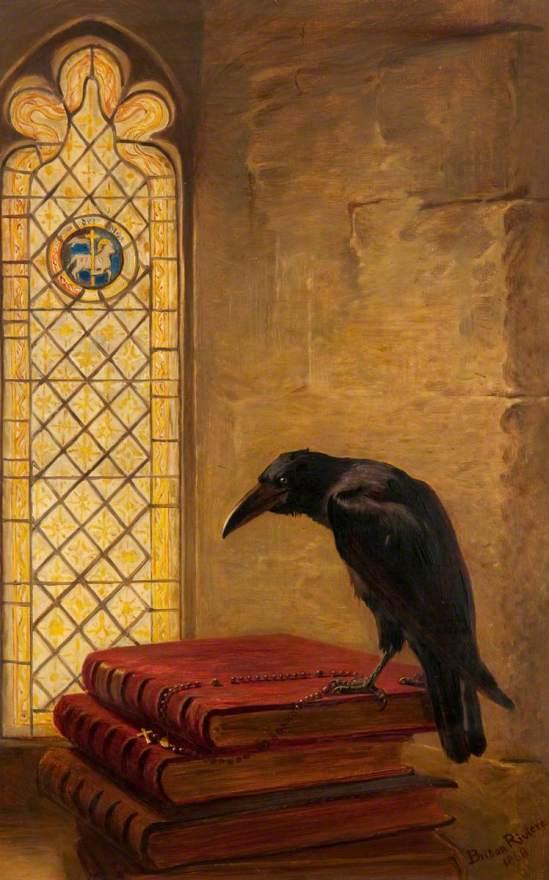 Riviere, Briton, 1840-1920; A Saint, from the 'Jackdaw of Rheims'