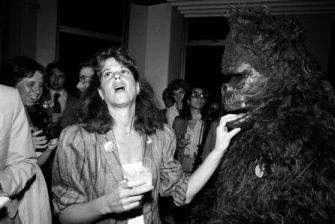 Mandatory Credit: Photo by Anonymous/AP/REX/Shutterstock (6595935a) Radner Actress-comedian Gilda Radner, left, jokes with a person in a King Kong costume at a party she hosted for Mark Green, who is running for congress, on the observatory floor of the Empire State Building in New York City, Tuesday night GILDA RADNER, NEW YORK, USA